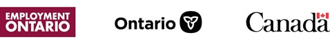Logos for Employment Ontario, Government of Ontario, Government of Canada